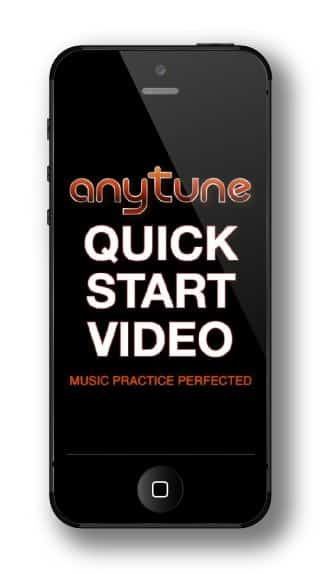 Play Anytune Quick Start Video for iPhone