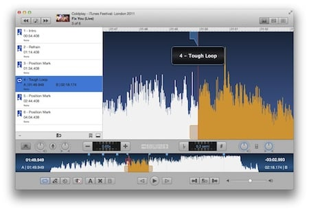 Anytune Mac Screen Shot - Save Loops and Create Audiomarks