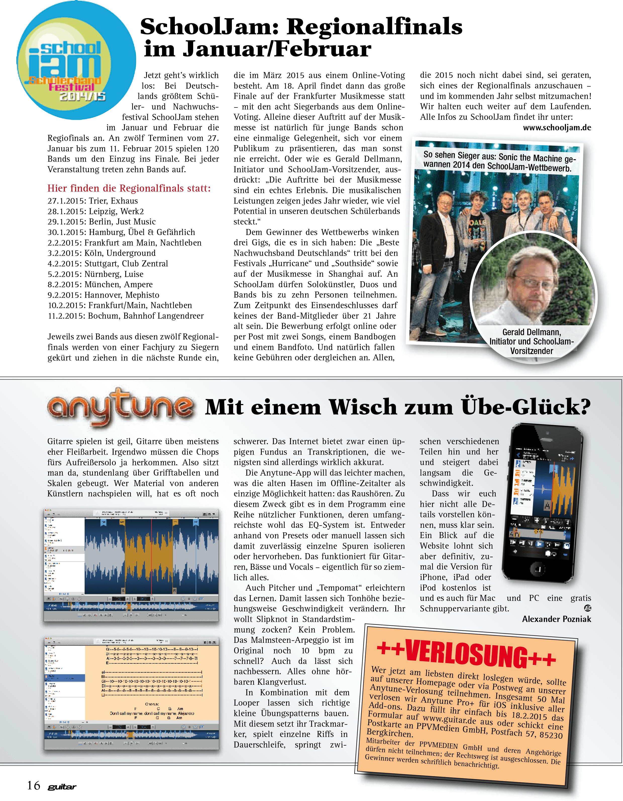 Anytune guitar.de Kurzbericht 2015 Seite 1